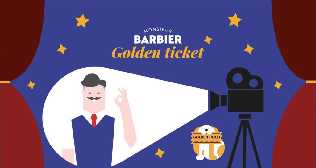 Golden ticket cinéma monsieur barbier