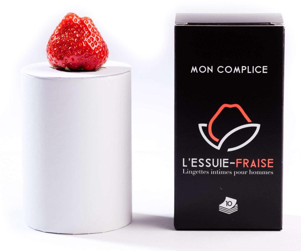Essuie Fraise, la lingette star de l'hygiène intime pour homme