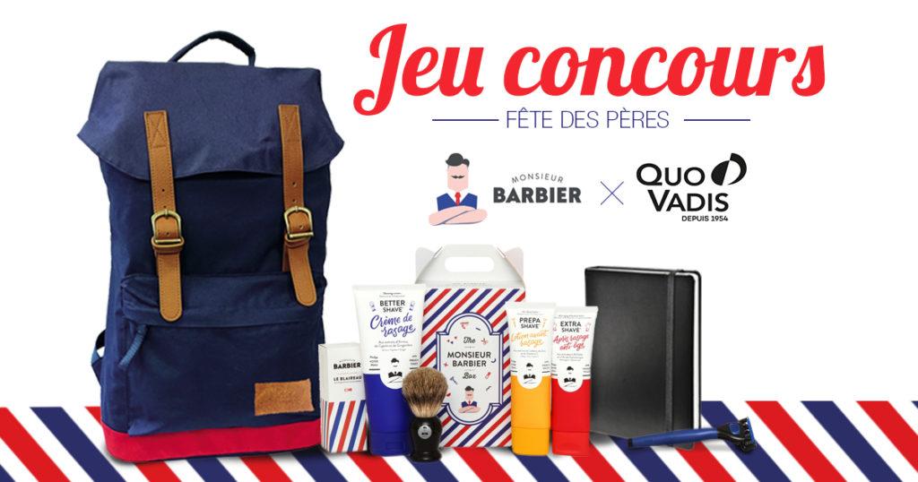 Fête des pères jeu concours top 20 commentaires monsieur barbier quo vadis Facebook